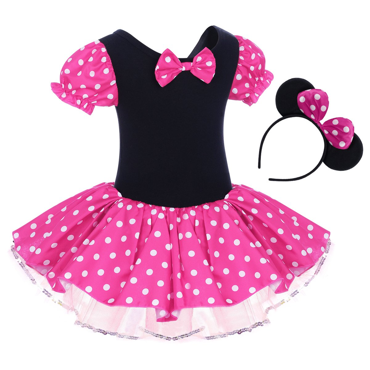 df8764f5a Infant Baby Girls Polka Dots Leotard Christmas Birthday Princess Bowknot  Tutu Dresses Xmas Cosplay Pageant Cute Mouse Dress Up Fancy Costume Party  Outfits + ...