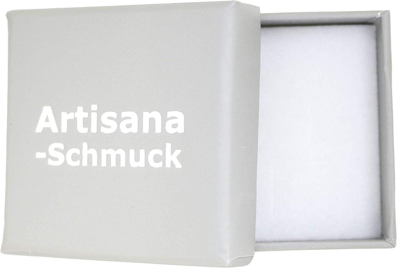 Broche de plata de ley 925 rodiada con /ámbar natural Artisana-Schmuck