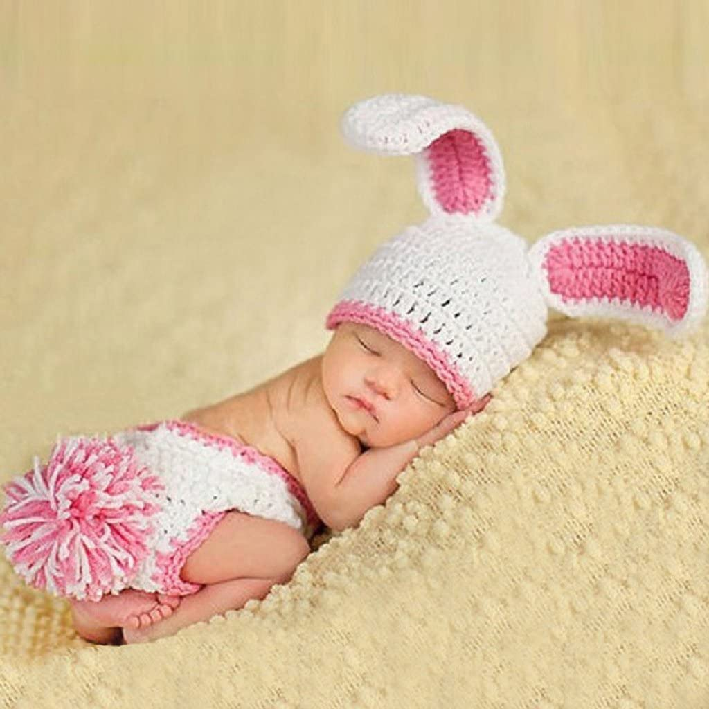 Newborn baby Crochet Knit Clothes Photo Photography Prop Costume Rabbit Outfit