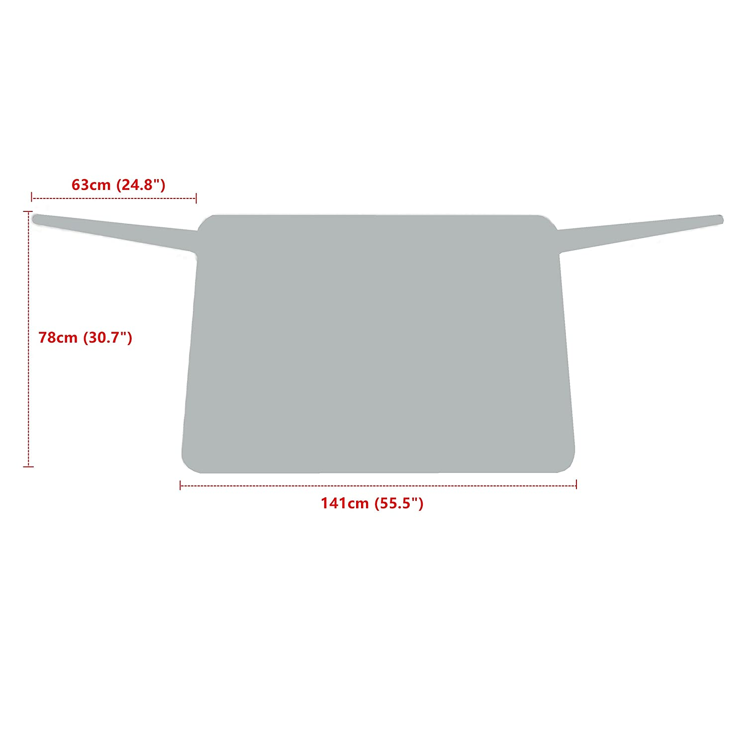 Jackey Awesome Windshield Snow Cover Car Windshield Snow /& Sun Shade Protector Exterior Shield Guard Fits Most Weather Winter Summer Auto Sunshade Cover Silver, for Vehicle Rear Windshield