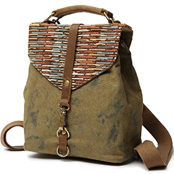 3744df0507c4 Kemy's Girls Canvas Backpack Purse Marble Daypacks Bags Small School  Bookbag Travel Handbag for Traveling, Military