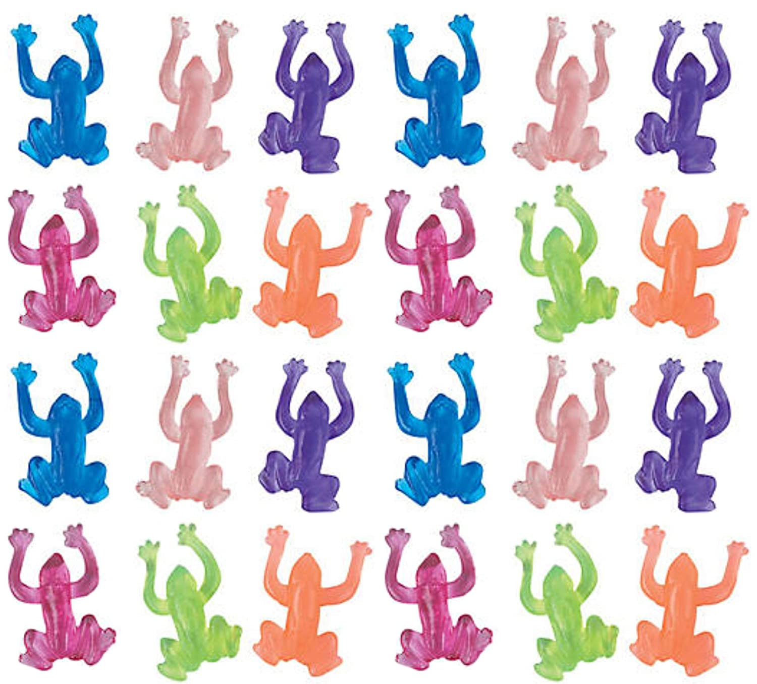 Set of 24 The Dreidel Company Stretchy Sticky Frogs Passover Toys