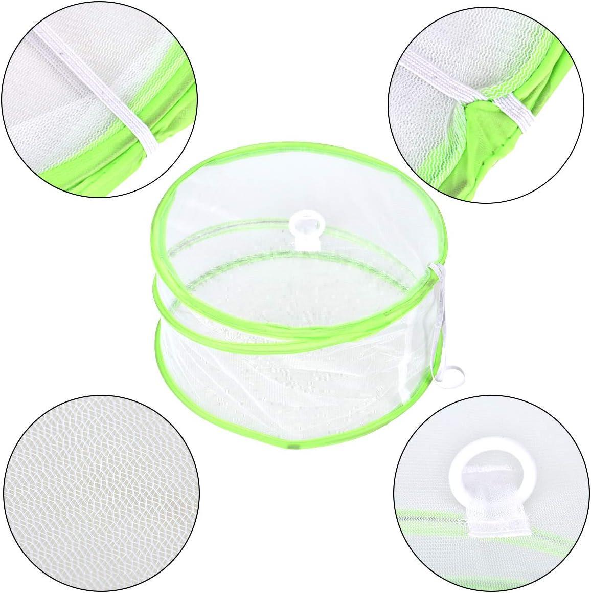 protezione antipolvere custodia pieghevole per insetti set di 3 Wuudi Copertura per la protezione degli alimenti