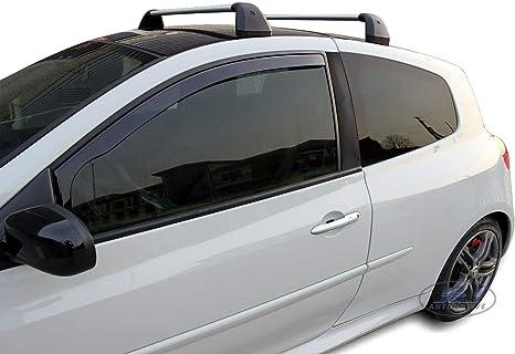 J/&J AUTOMOTIVE Deflecteurs dair d/éflecteurs de Vent Compatible avec Renault Megane 2 II 3 Portes 2002-pr/és 2 pi/èces