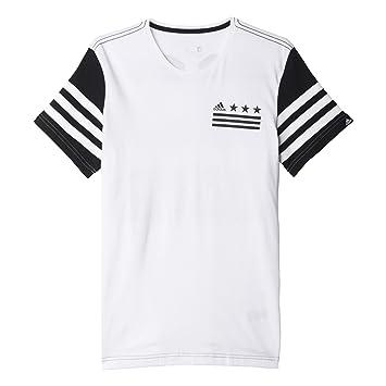 Adidas 3 - Camiseta para Hombre, Color Blanco/Negro, Talla 2XL: Amazon.es: Deportes y aire libre
