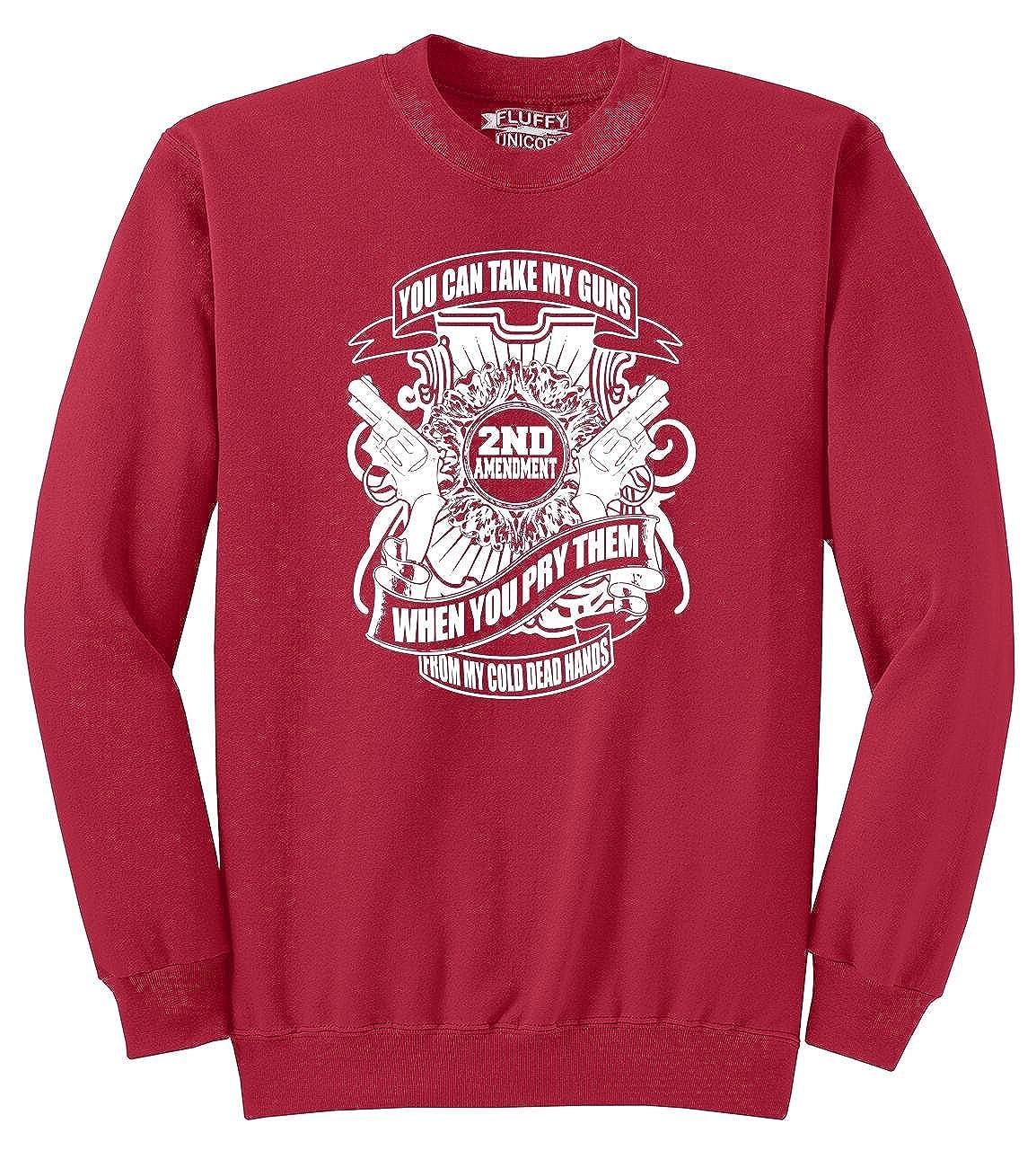 Comical Shirt Mens You Can Take My Guns Cold Dead Hands Sweatshirt