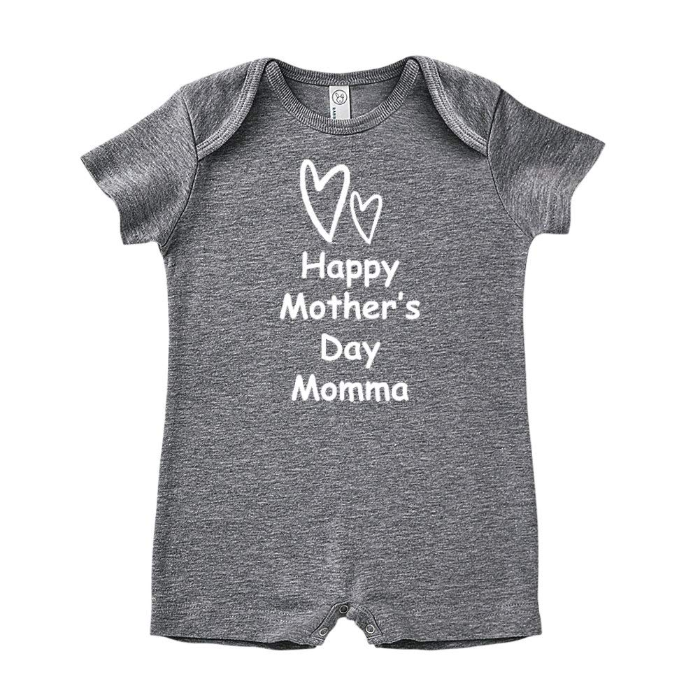 Baby Romper Happy Mothers Day Momma Two Hearts