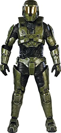 Halo Master Chief Costume Adult Standard  sc 1 st  Amazon.com & Amazon.com: Halo Master Chief Costume Adult Standard: Clothing