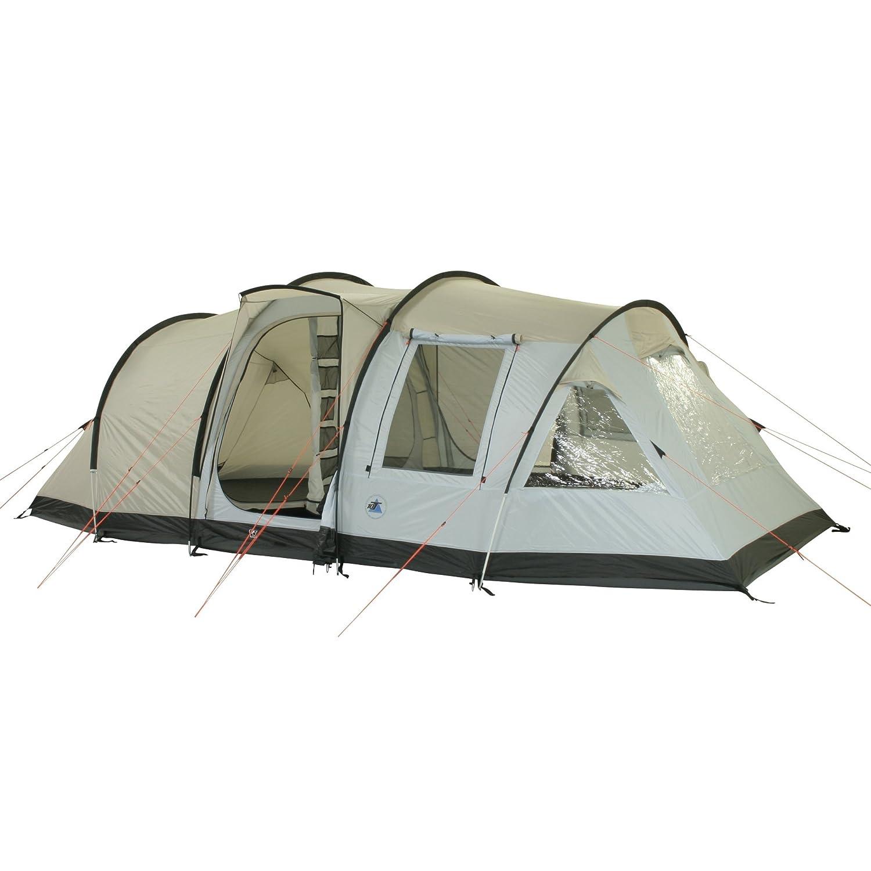 10T Kenton - 4-Personen Apsis Tunnel-Zelt mit Voll-Bodenplane gr. Wohnraum + teilbare Innenkabine WS=5000mm