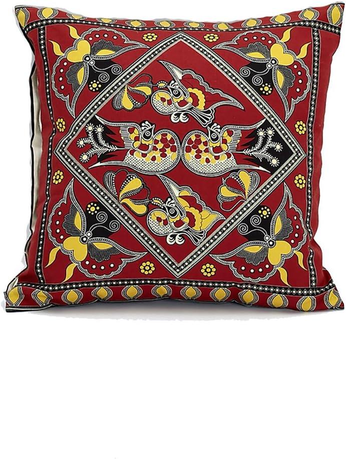 BuRu Home Asian Throw Pillow Cover, Decorative Pillow, Boho, Pillow Case, Pillow Cover 18x18, Cushion Cover, Bohemian Decor, Chinese, Wedding Gift