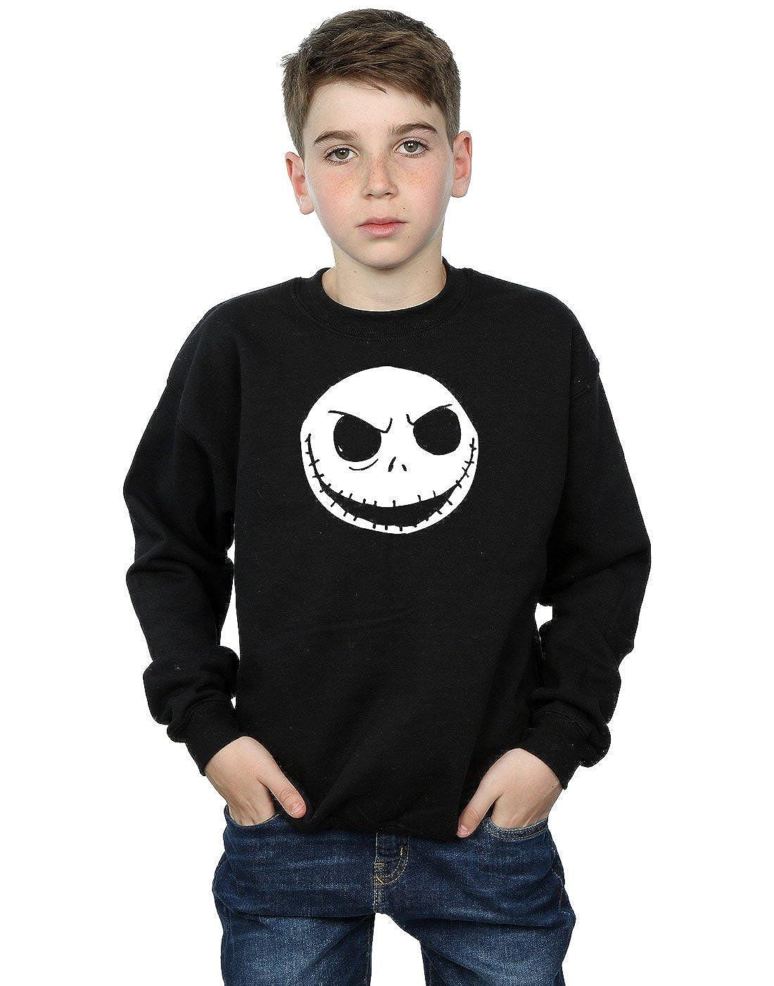 Disney Boys Nightmare Before Christmas Jack Skellington Face Sweatshirt Absolute Cult