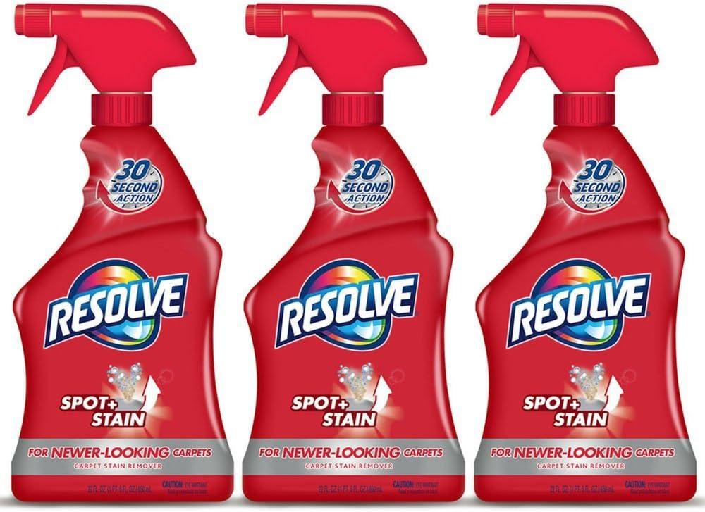 Resolve Carpet Spot & Stain Remover, 22 fl oz Bottle, Carpet Cleaner (Pack of 3)