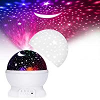 ASANMU LED Lámparas Proyector Infantiles, 360° Rotación Proyector Estrellas Bebés 12 Modos Proyector de Estrellas Luz de…