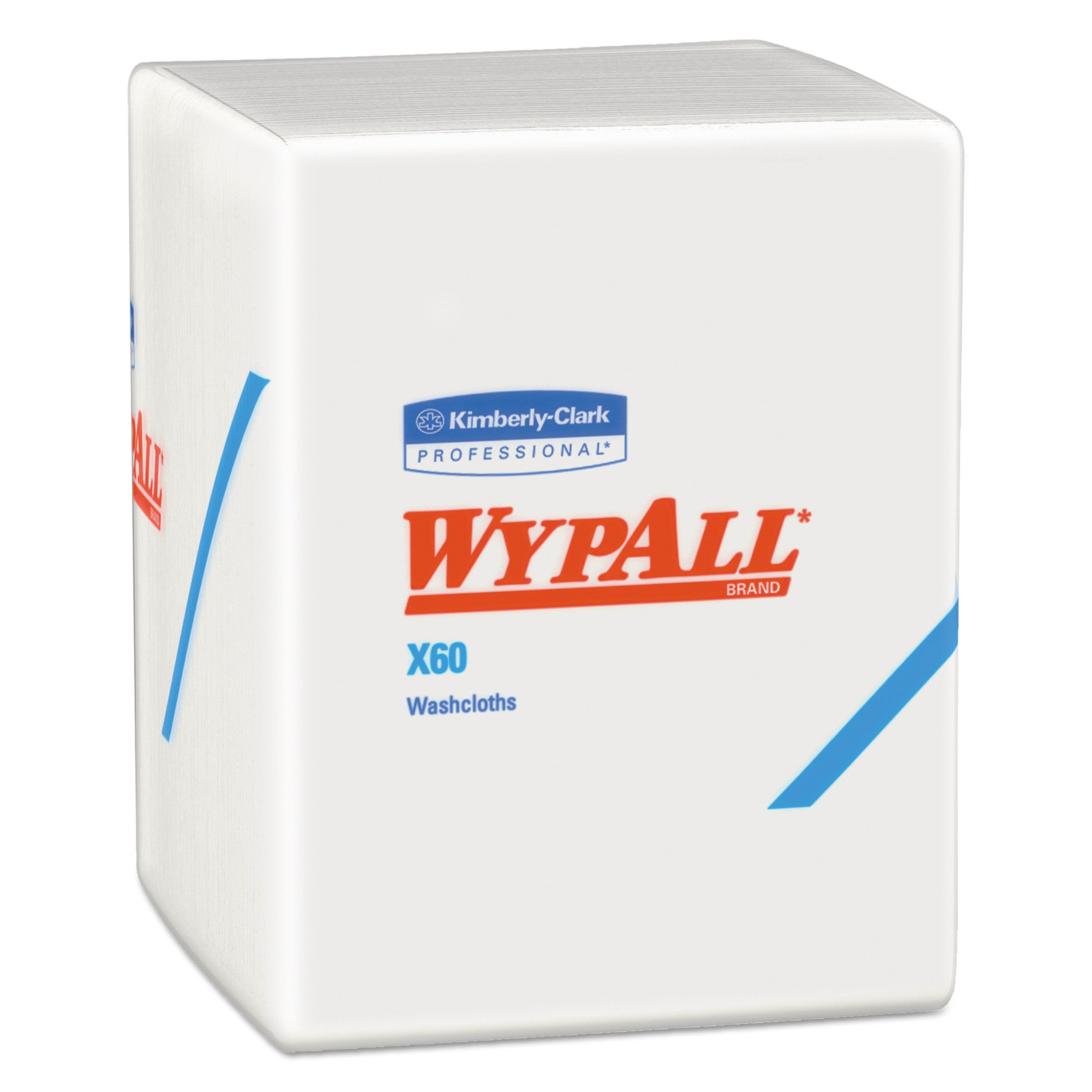 WypAll 41083 X60 Cloths, 1/4 Fold, 12 1/2 x 10, White, 70 per Pack (Case of 8 Packs) by Wypall