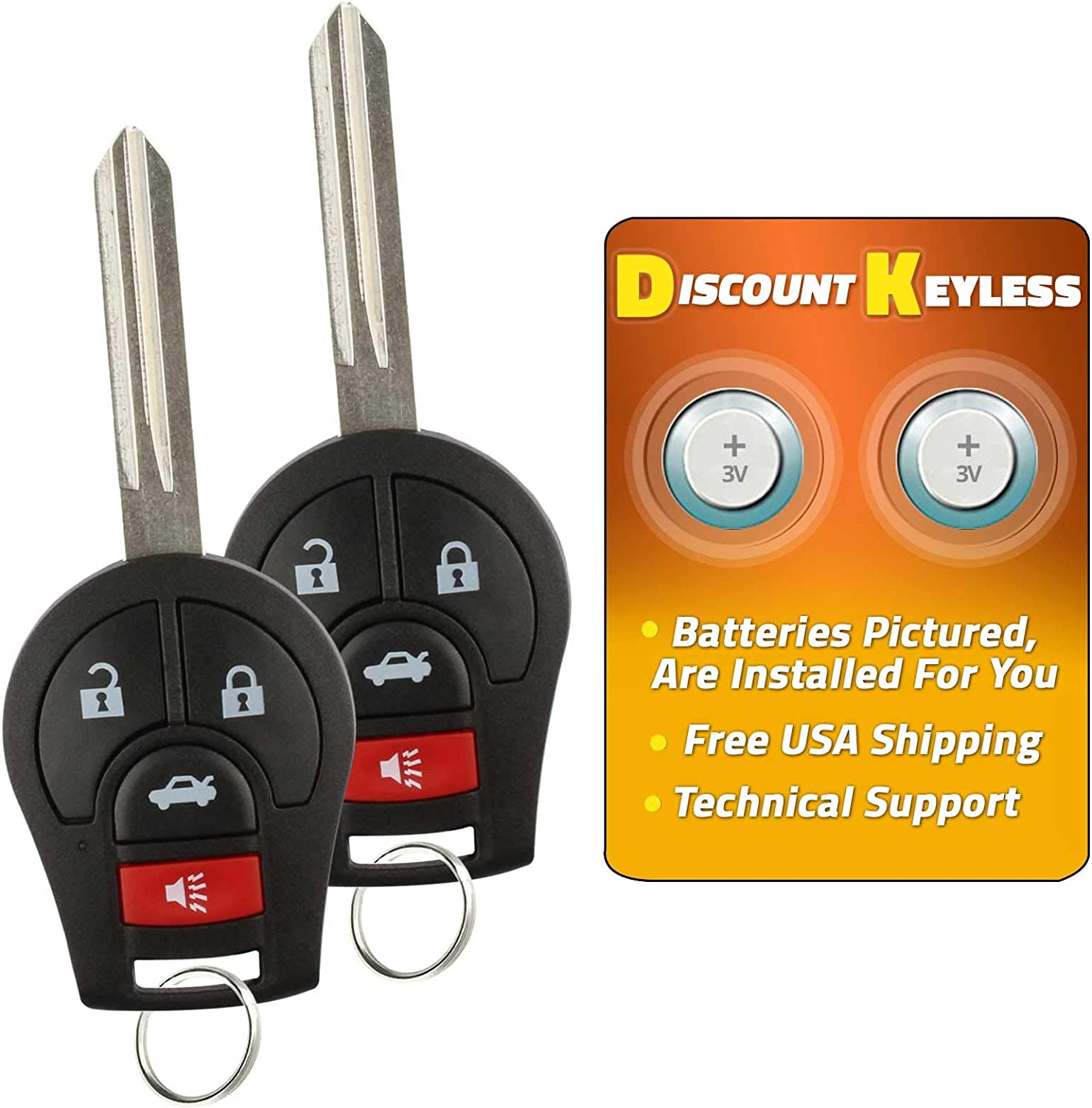 Discount Keyless Replacement Uncut Car Remote Fob Key Combo Compatible with CWTWB1U751 ID 46