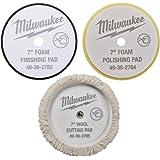 "Polishing and Finishing Pad Kit 49-36-2783, 49-36-2784, 49-36-2785 for Milwaukee M18 Polisher (2738) 7"" inch - NEW"