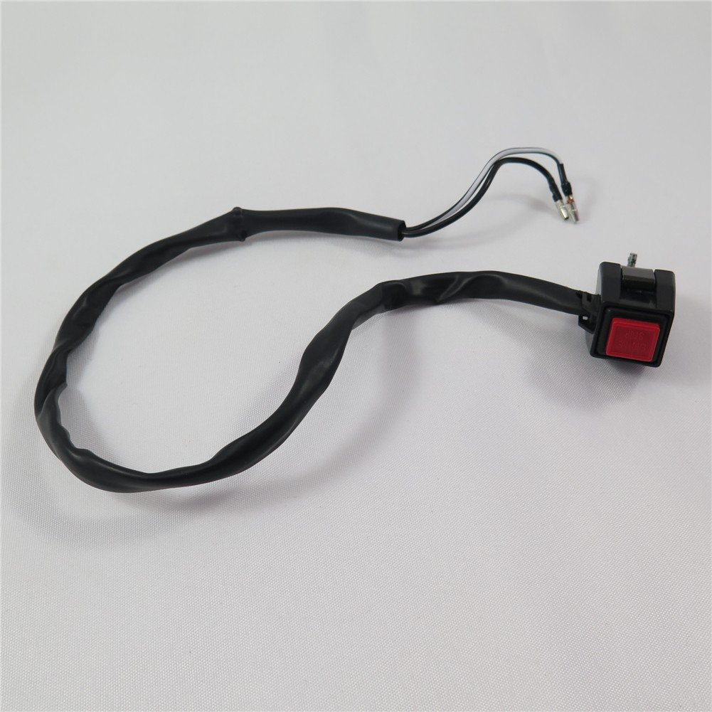 SEMT- Universal Red 7/8' Handlebar Engine Stop Buttom Kill Cut Off Stop Switch Push Button used on Motorcycles ATVs Scooters Snowmobiles