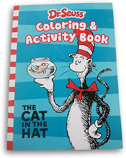 - Amazon.com: Dr. Seuss Cat In The Hat Coloring And Activity Book - 80 Pages:  Toys & Games