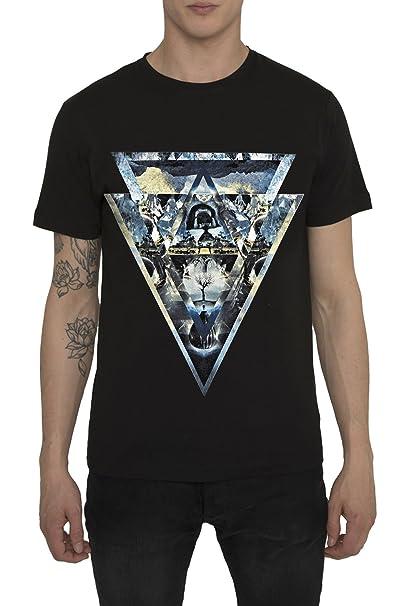 Camisetas Hombre de Moda Urbana Fashion Rock, Camiseta Negra con Impresión 3D Originales NIRVANA T