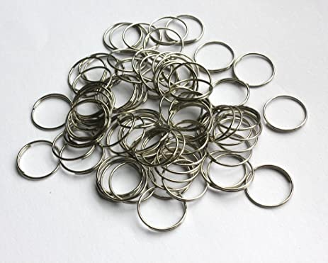 Amazon.com: HoHoDeal 200pcs Silver Plated Jump Ring Crystal ...