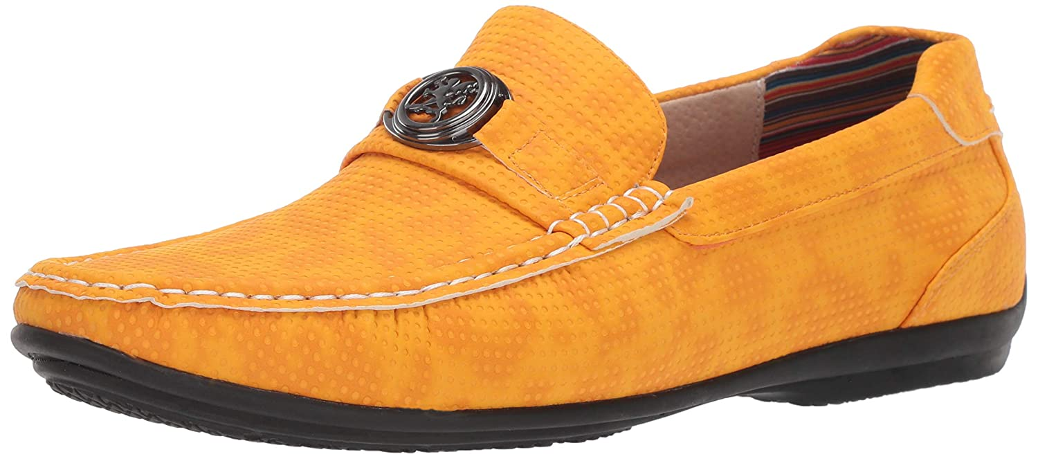 Saffron Stacy Adams Men's CYD Slip-on Driver Loafer Driving Style