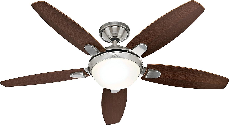 Hunter Fan 50612 Contempo - Ventilador de techo con luz níquel ...