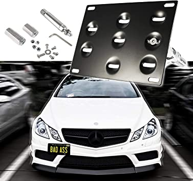 JGR Racing Car No drill Tow Eye Front Bumper Tow Hole Hook License Plate Mount Bracket Holder Adapter Relocation Kit For Mercedes W204 C-Class W212 E Class C117 CLA-Class W221 S-Class W166 ML X204 GLK JGR-1013