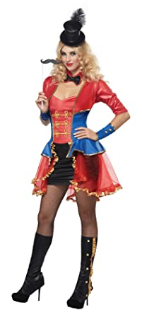 California Costumes Womenu0027s Eye Candy - Ringmaster Adult Red/Blue X-Small  sc 1 st  Amazon.com & Amazon.com: California Costumes Womenu0027s Sexy Ringmaster Costume ...