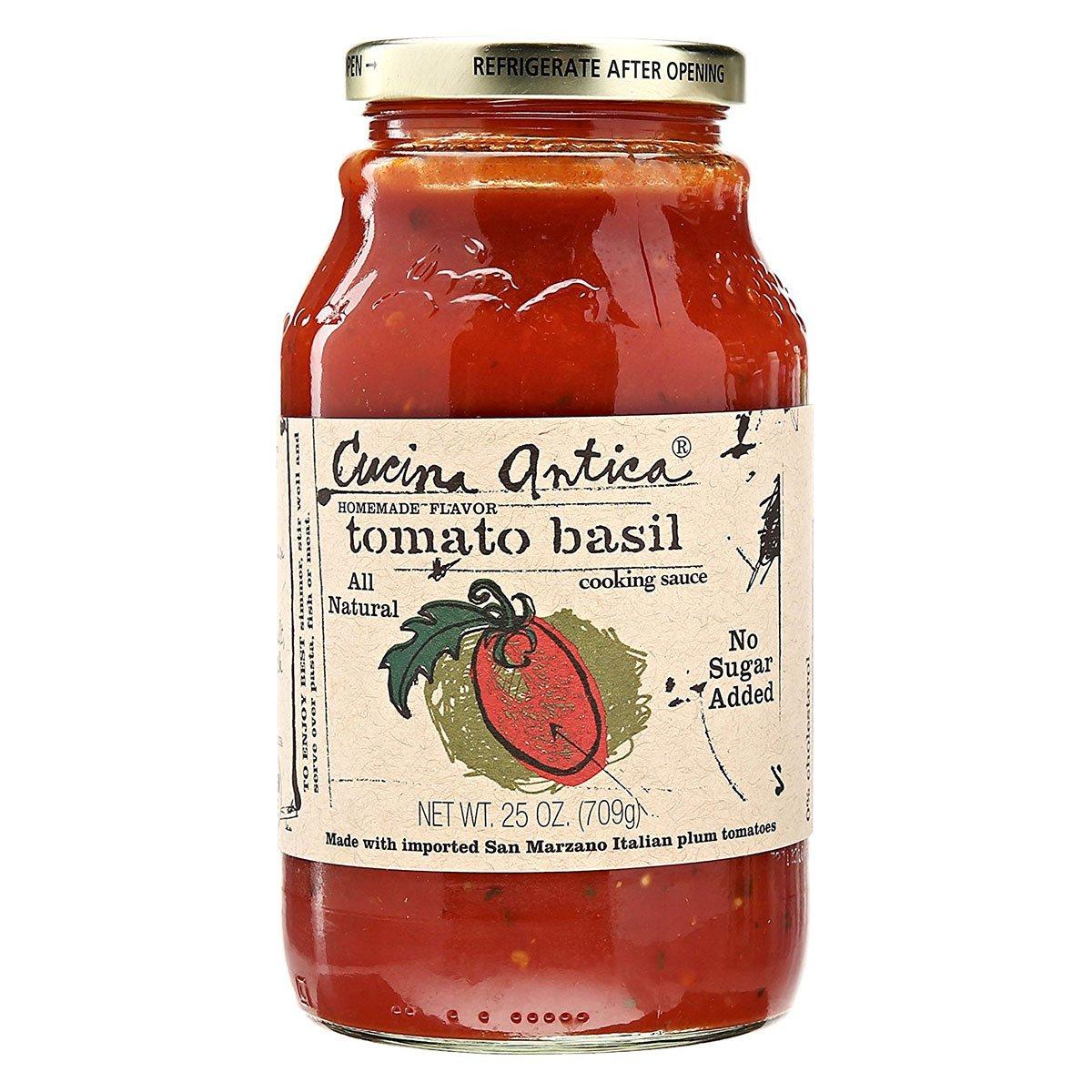 Amazon Com Cucina Antica Tomato Basil Sauce 25 Ounce 12 Per