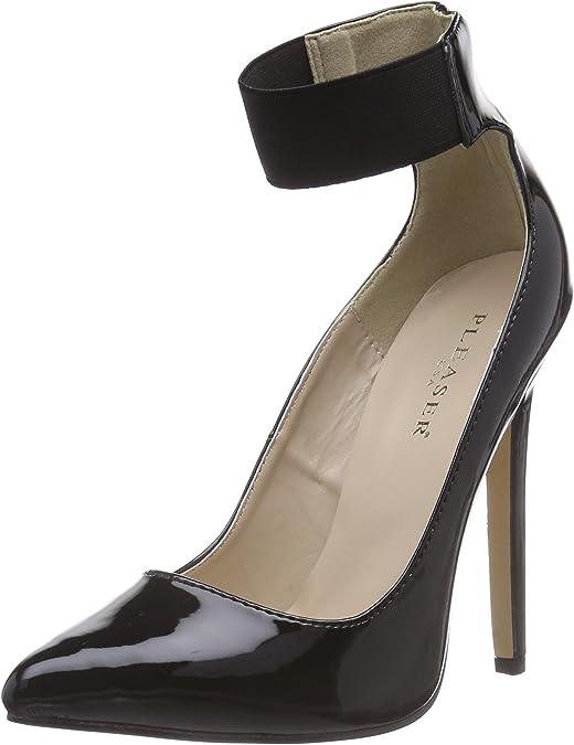 TALLA 35 EU. Pleaser SEXY-33 - Zapatos con Cierre al Tobillo de Material sintético Mujer