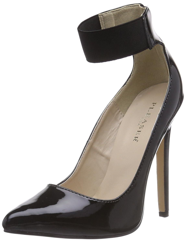 TALLA 36 EU. Pleaser SEXY-33 - Zapatos con Cierre al Tobillo de Material sintético Mujer