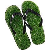 Modi Summer Beach Flip Flops Casual Grass Lawn Indoor&Outdoor Anti-Slip BathSandals for Men Women