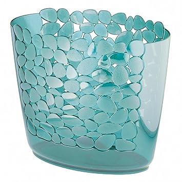 Amazon.com: Decorative Slim Oval Small Trash Can Wastebasket ...