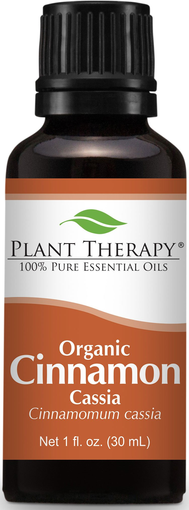 Plant Therapy USDA Certified Organic Cinnamon Cassia Essential Oil. 30 ml (1 oz). 100% Pure, Undiluted, Therapeutic Grade. (Pack of 12)