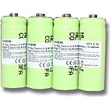 4 x Ni-MH baterías 400mAh (1.2V) para teléfono inalámbrico Hagenuk Classico, iDect X1, X1i, X11 por 2/3 AAA, GP40AAA, GP40AAAM, GP40AAAMC.