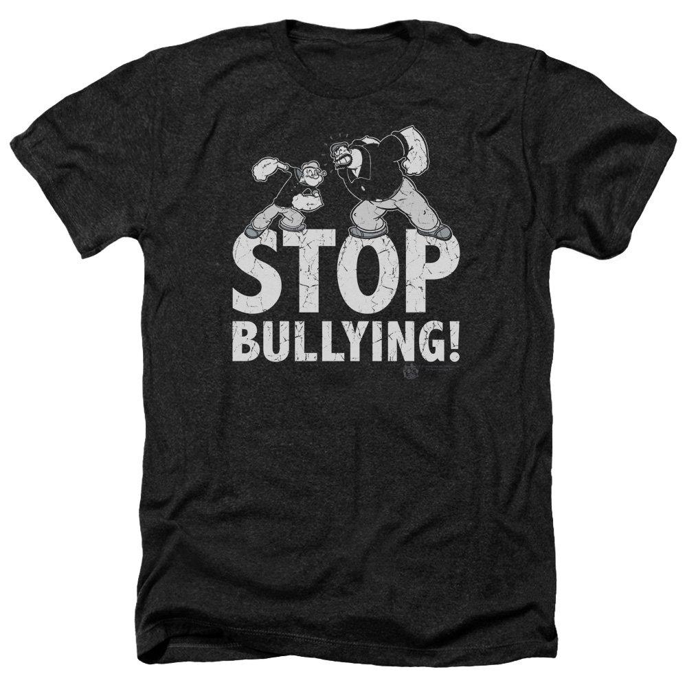 Popeye Stop Bullying S Heather Shirt Black