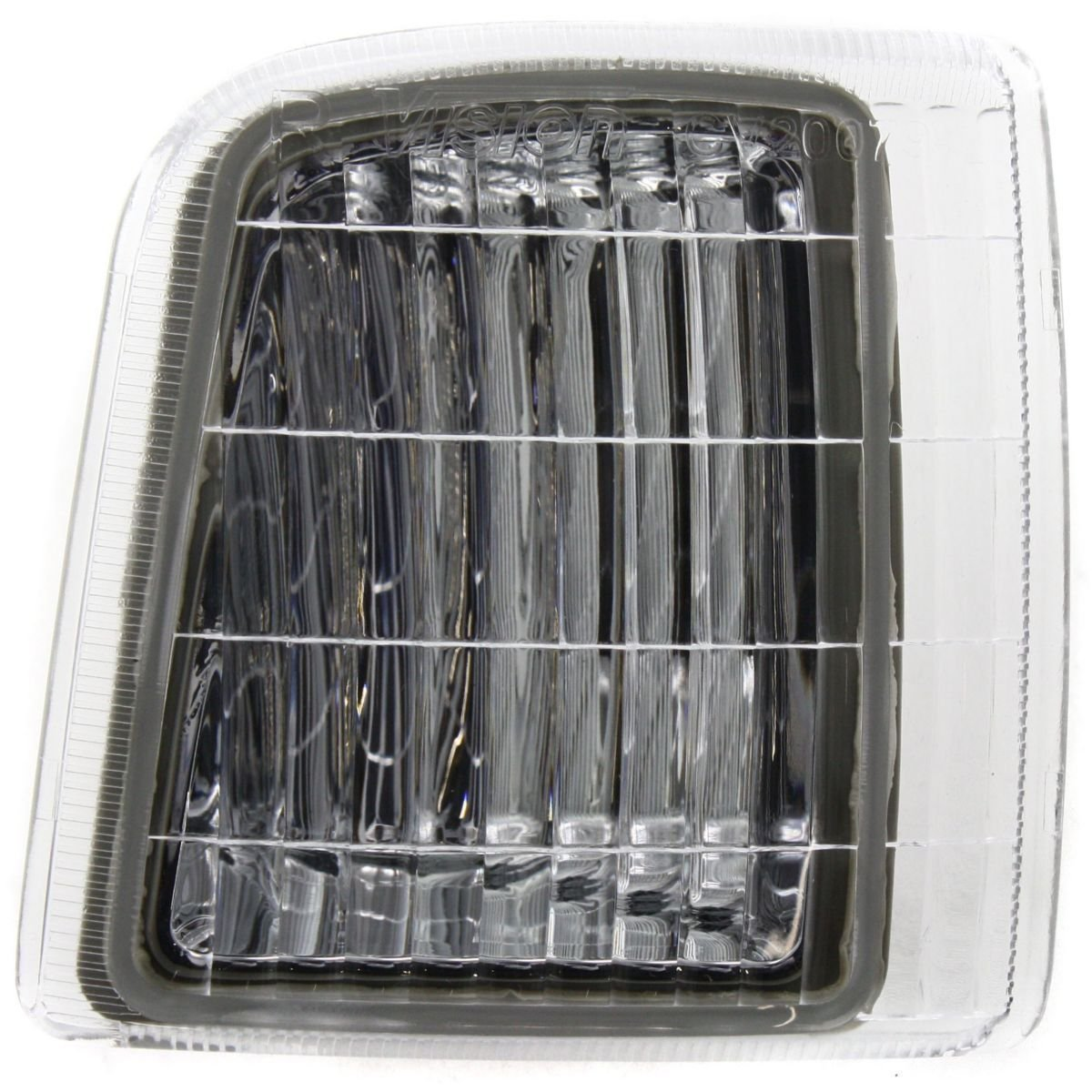 DAT AUTO PARTS Side Marker Light Assembly Replacement for 81-91 GMC Suburban Front Chrome Trim Right Passenger Side GM2551107