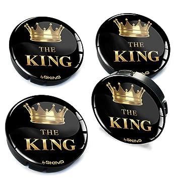 4 x 60 mm Silicona Buje Tapas Tapas The King Llanta Tapa Buje de Rueda Tapacubos
