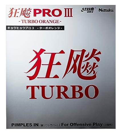 Nittaku Hurricane Pro 3 Turbo Orange Table Tennis Rubber (Black, 1.8mm)