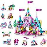 VATOS Girls Building Blocks Set Toy, 568pcs Princess Castle Toys for Girl, 25 Models Pink Palace Bricks Toys, STEM Constructi