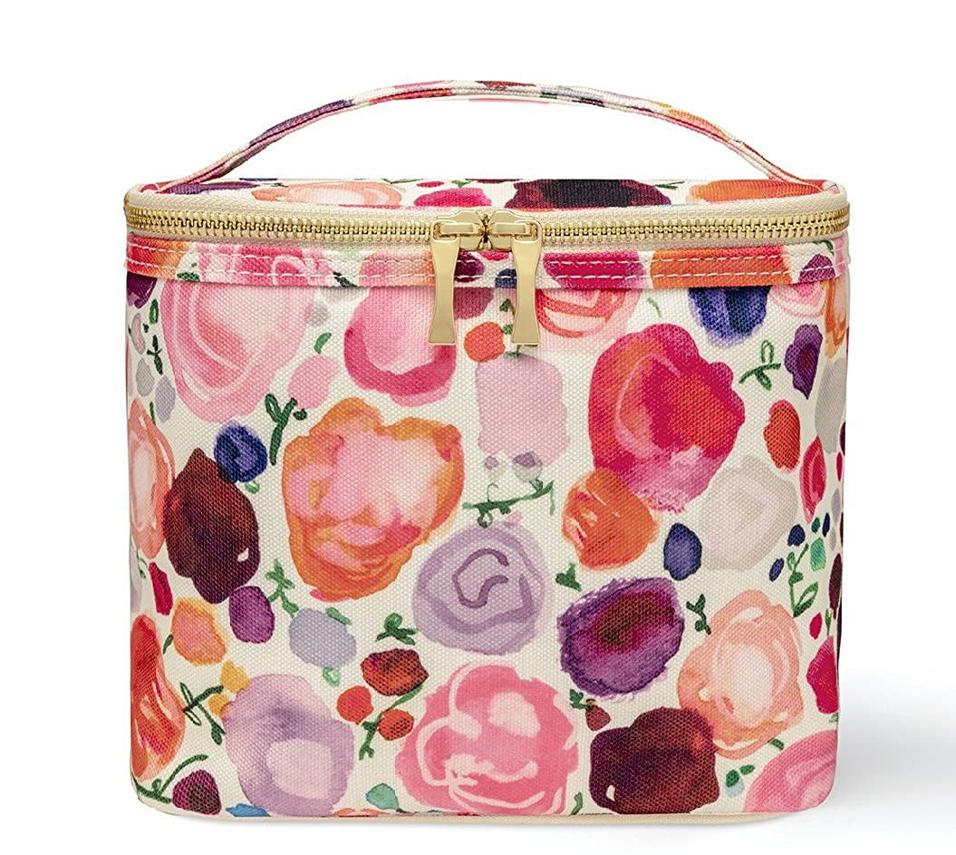 Kate Spade New York Insulated Soft Cooler Lunch Tote with Double Zipper Close and Carrying Handle  Floral