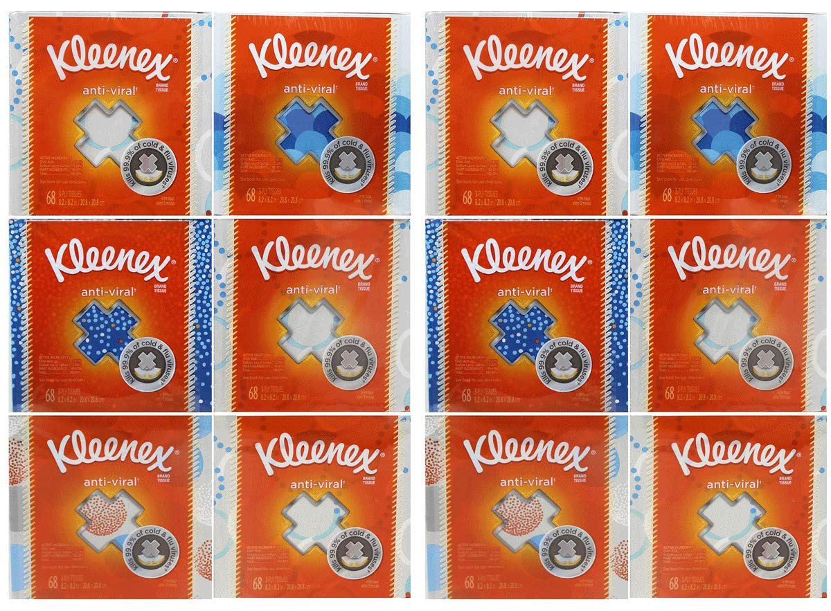 Kimberly-Clark Professional IUYasdEH Kleenex Anti-Viral Facial Tissue Cube 12 Pack