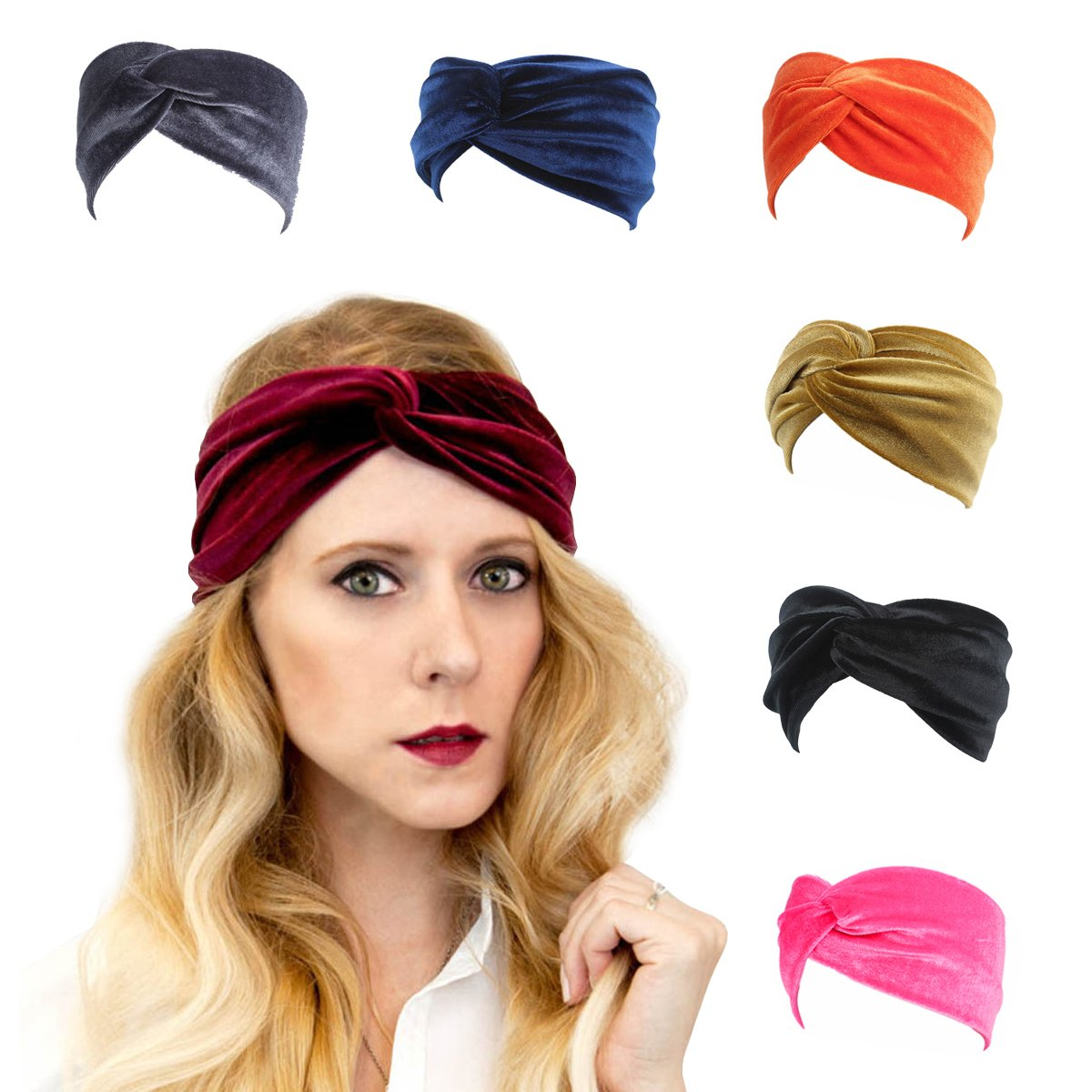 Amazon.com   Velvet Elastic Headband 8e8a447256e