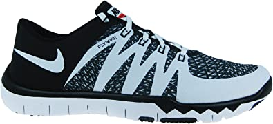 Amazon Com Nike Mens Free Trainer 5 0 V6 Black White Mesh Cross Trainers Shoes 12 M Us Shoes