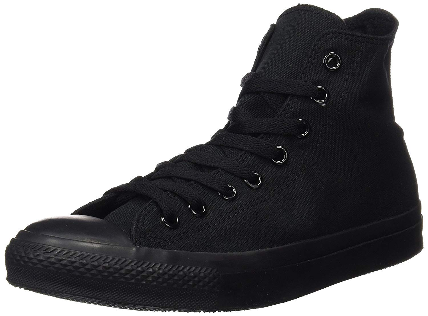 Converse Mens Chuck Taylor All Star High Top, 4.5 D(M) US, Black Monochrome by Converse (Image #1)