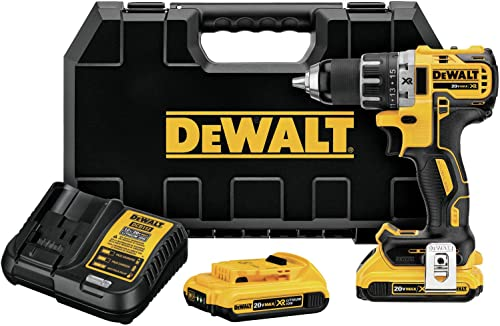 DEWALT DCD791D2R 20V MAX XR Li-Ion Brushless Compact Drill Driver Kit Renewed