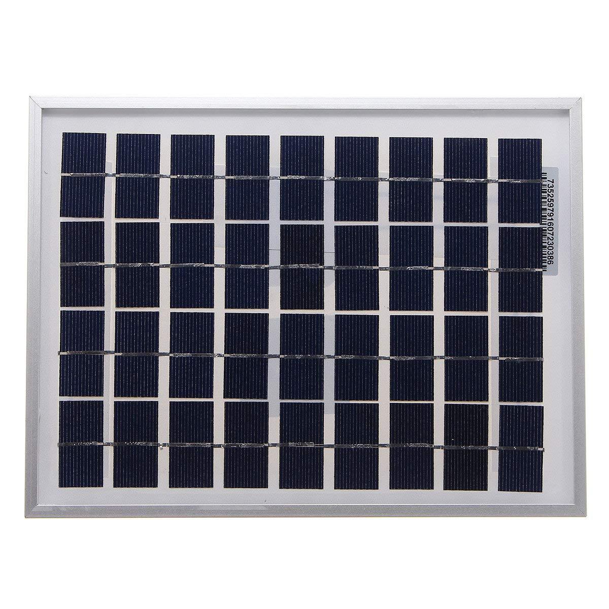 5W 18V Polycrystalline Solar Panel for 12V Battery - Arduino Compatible SCM & DIY Kits Smart Robot & Solar Panel - 1 x 5W Solar Panel
