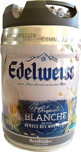 Edelweiss, blanche 5 litre party keg 5% vol cerveza de trigo de los Alpes