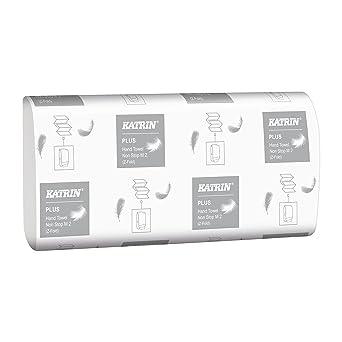 Katrin 343146 Plus Calidad intercalada Zig Zag toallas de mano, 2 capas, atractivo molino
