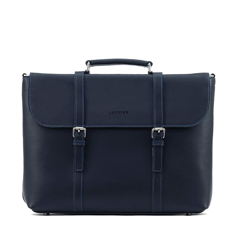 LOTUFF(ロトプ) 牛革 レザー 6 Color トートバッグ ビジネスバッグ ショルダーバッグ LO-0916 メンズ レディース Leather Tote & Briefcase [並行輸入品] B07MQKBSZB ネイビー